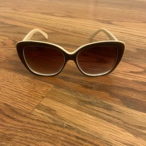 Chanel Sunglasses ivory Quilted Pattern With